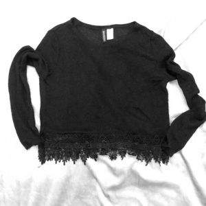 H&M Divided black sheer sweater